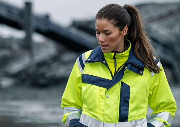 high visibility woman